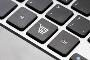 Shopping button key on laptop keyboard