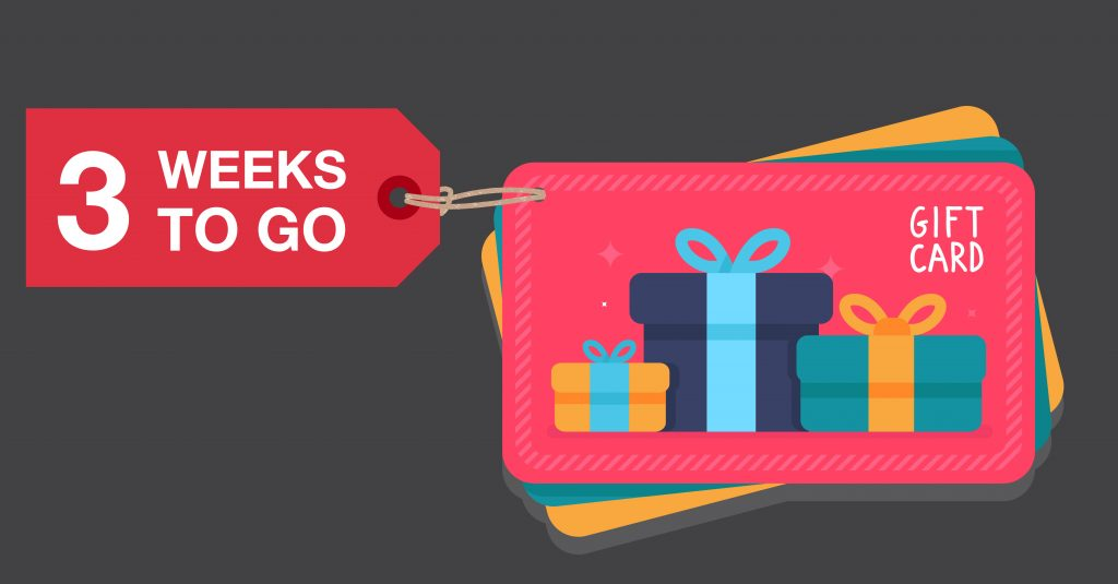Making Gift Card Sales Grow With Three Weeks To Go Canadian Pos Corporation Canadian Pos Corporation